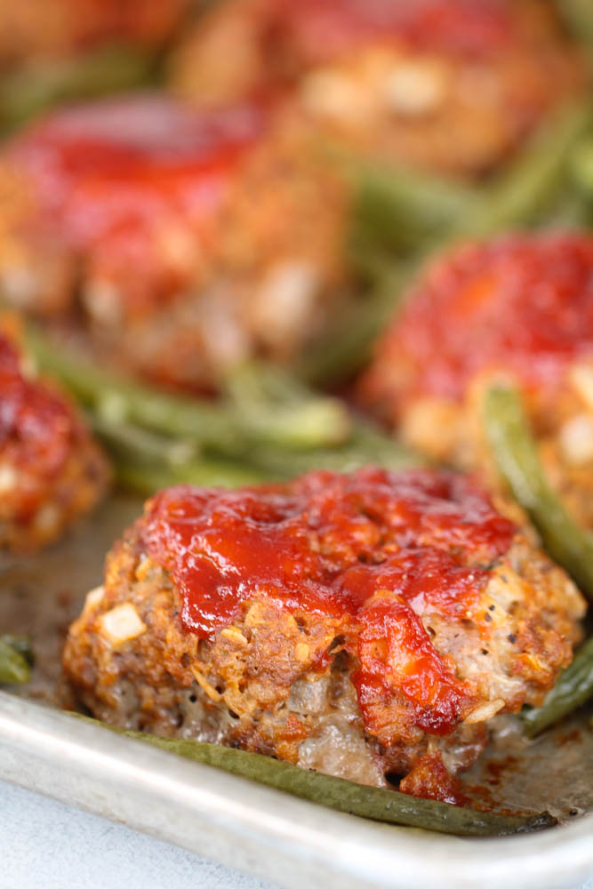 Sheet Pan Meatloaf and Green Beans   Six Sisters' Stuff