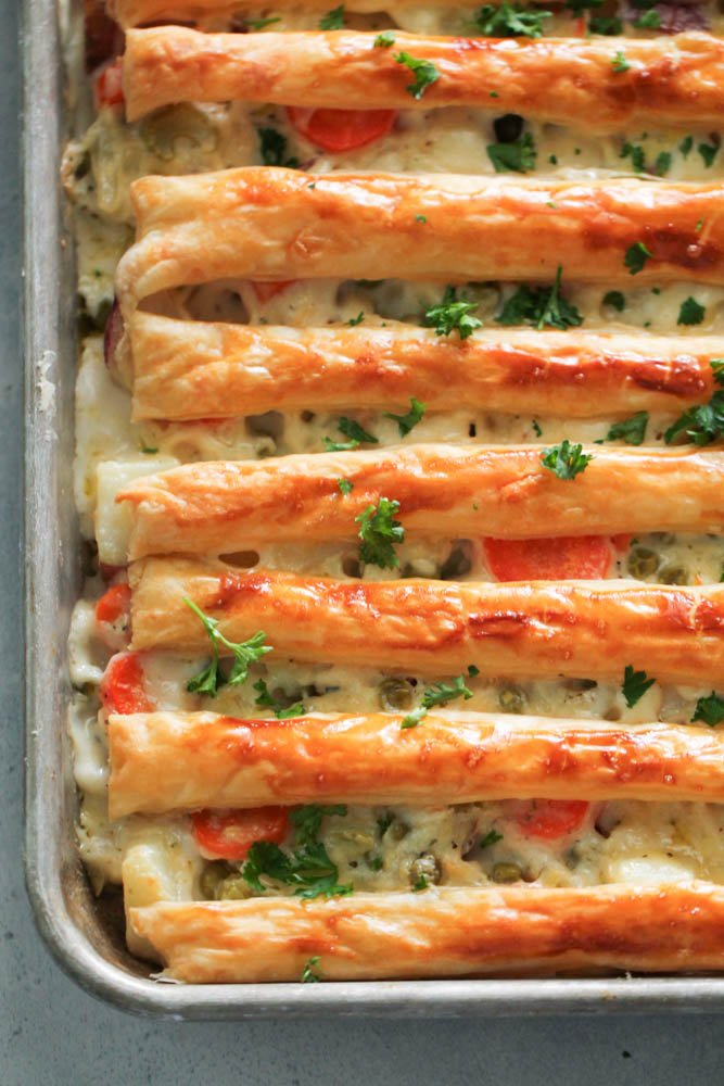 Sheet Pan Chicken Pot Pie Recipe