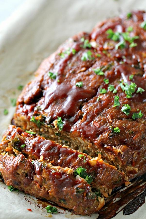 Glazed Ground Turkey Meatloaf
