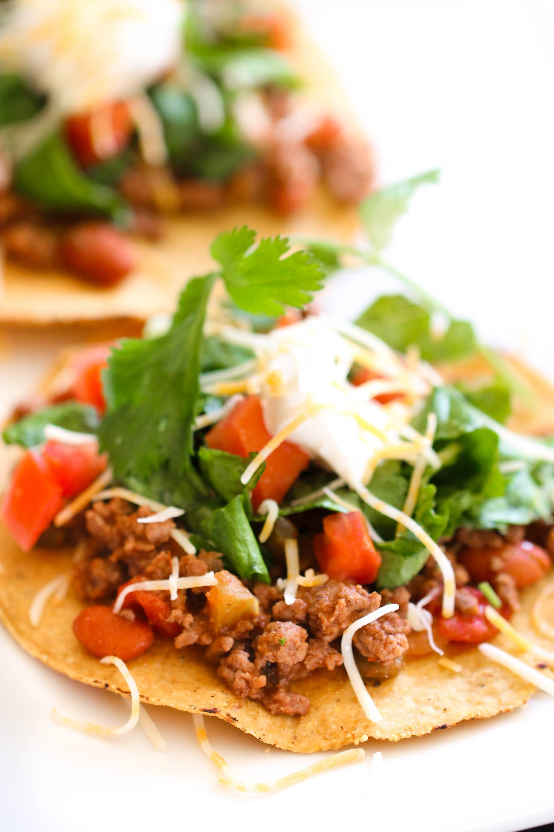 Easy Ground Beef Tostadas Recipe