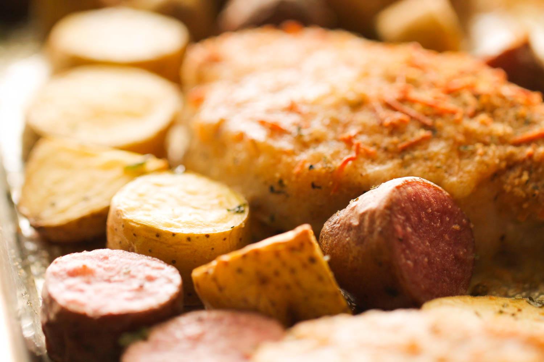 Sheet Pan Baked Pork Chops and Potatoes