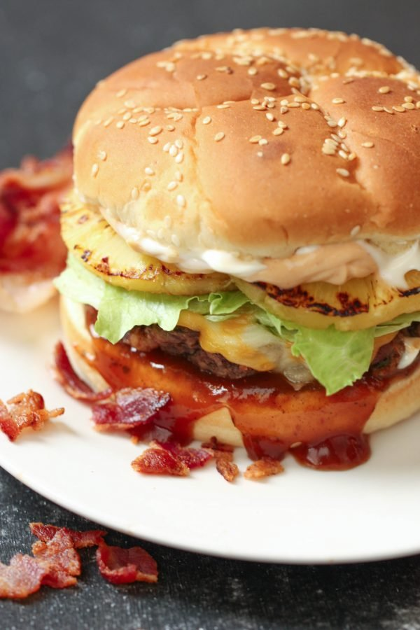 Bacon Infused Burgers from SixSistersStuff
