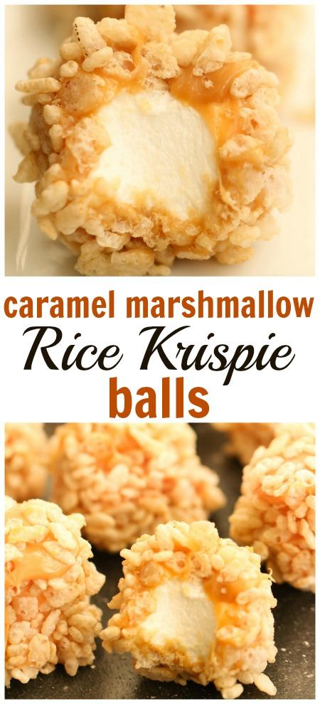 Six Sisters Caramel Marshmallow Rice Krispie Balls