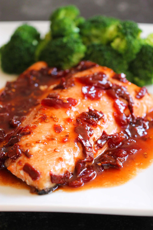 Cherry Chipotle Glazed Salmon