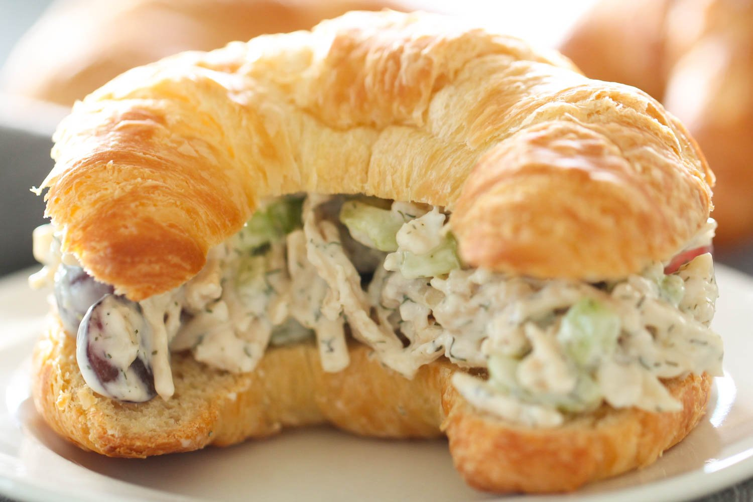 Chicken Salad Sandwich recipe on croissants