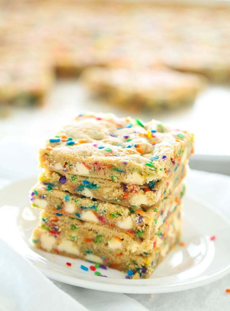 Sheet Pan Funfetti Cookie Bars Recipe