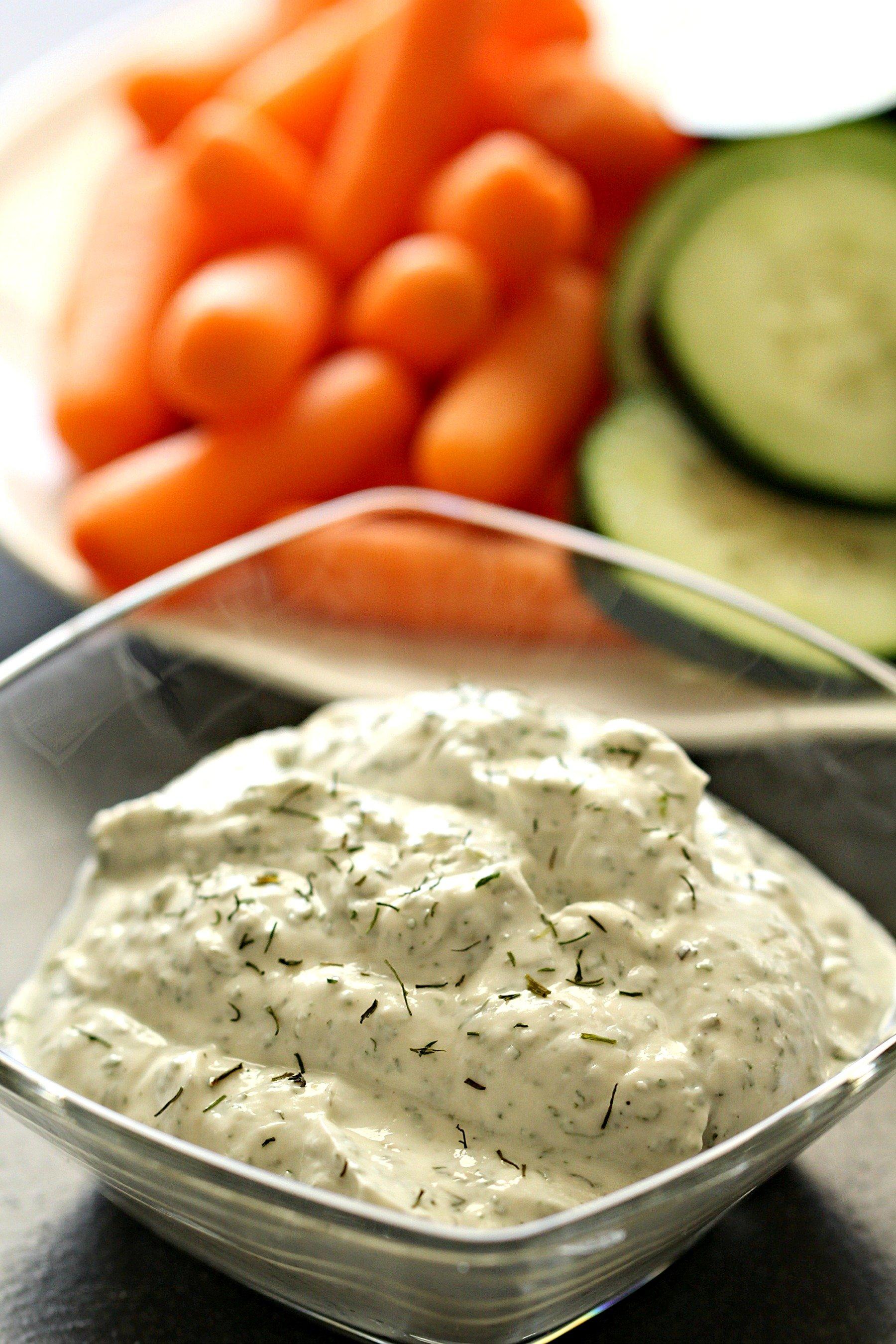 Greek Yogurt Ranch Vegetable Dip