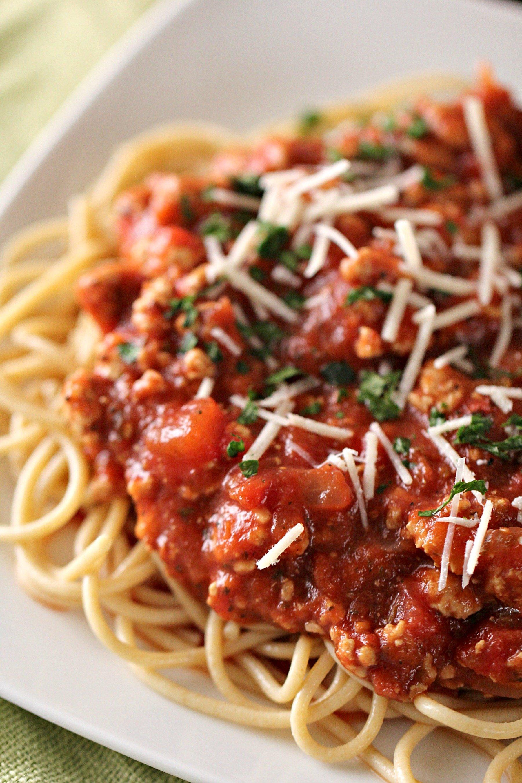 Ground Turkey Spaghetti Sauce Recipe