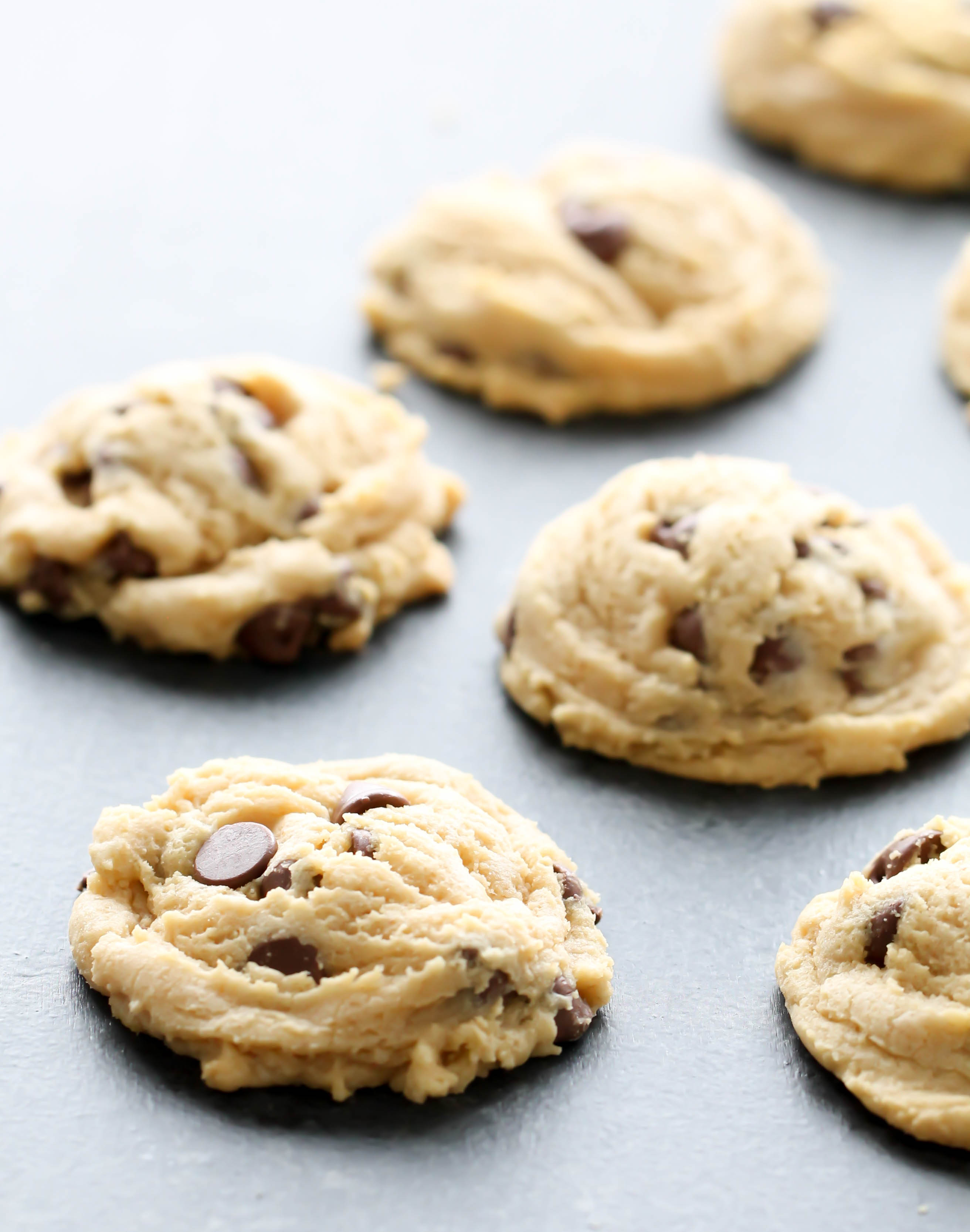 Chocolate Chip Pudding Cookies on counter top