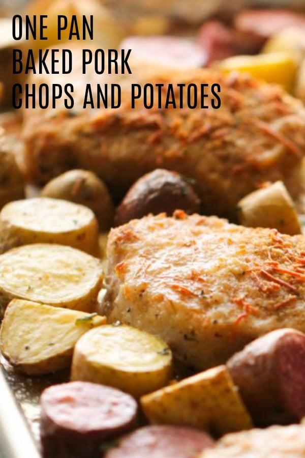 Sheet Pan Baked Pork Chops and Potatoes Recipe