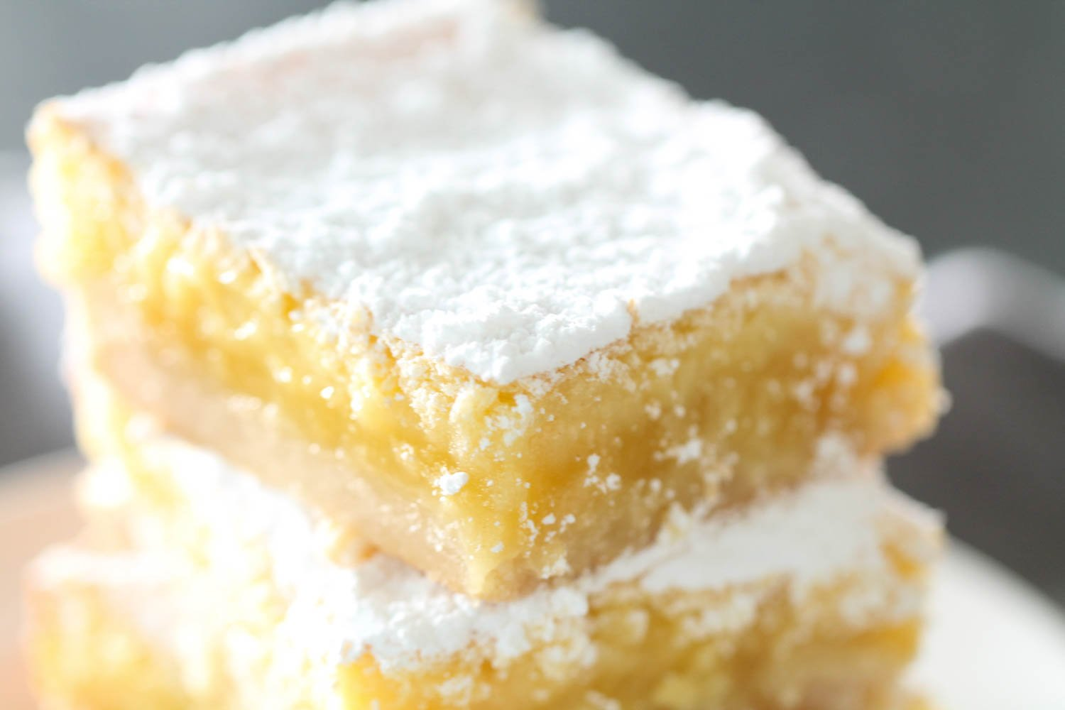 stacked homemade lemon squares