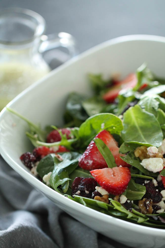 Spring Salad with Homemade Lemon Poppyseed Dressing