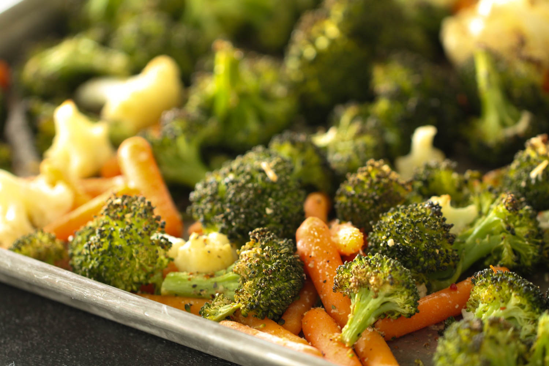 Italian Roasted Vegetable Medley Recipe on a sheet pan
