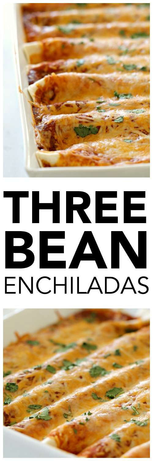 Creamy Three Bean Enchiladas