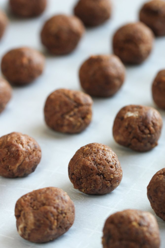 Uncoated Chocolate Chip Cookie Truffles