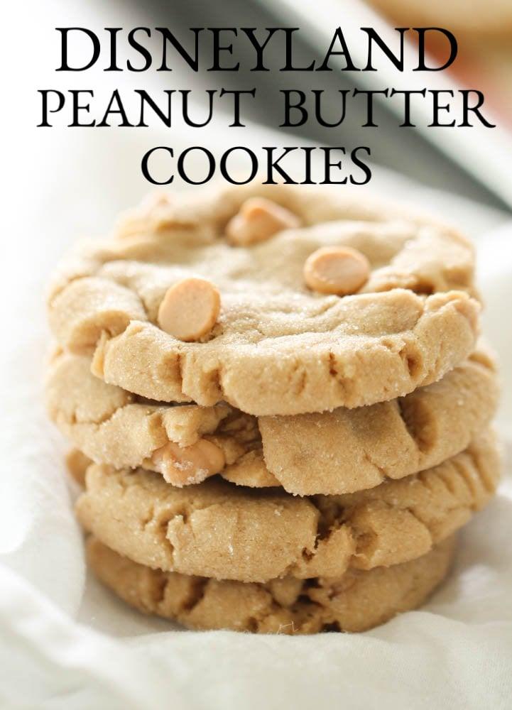 Disneyland Peanut Butter Cookies