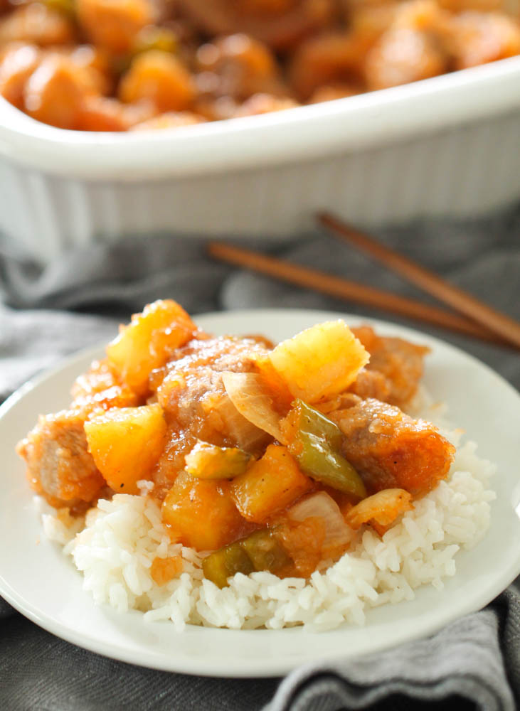 Easy Baked Sweet and Sour Pork