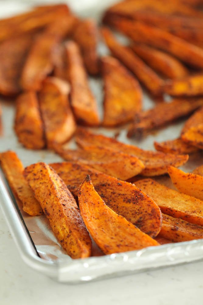 how to make sweet potato wedges oven