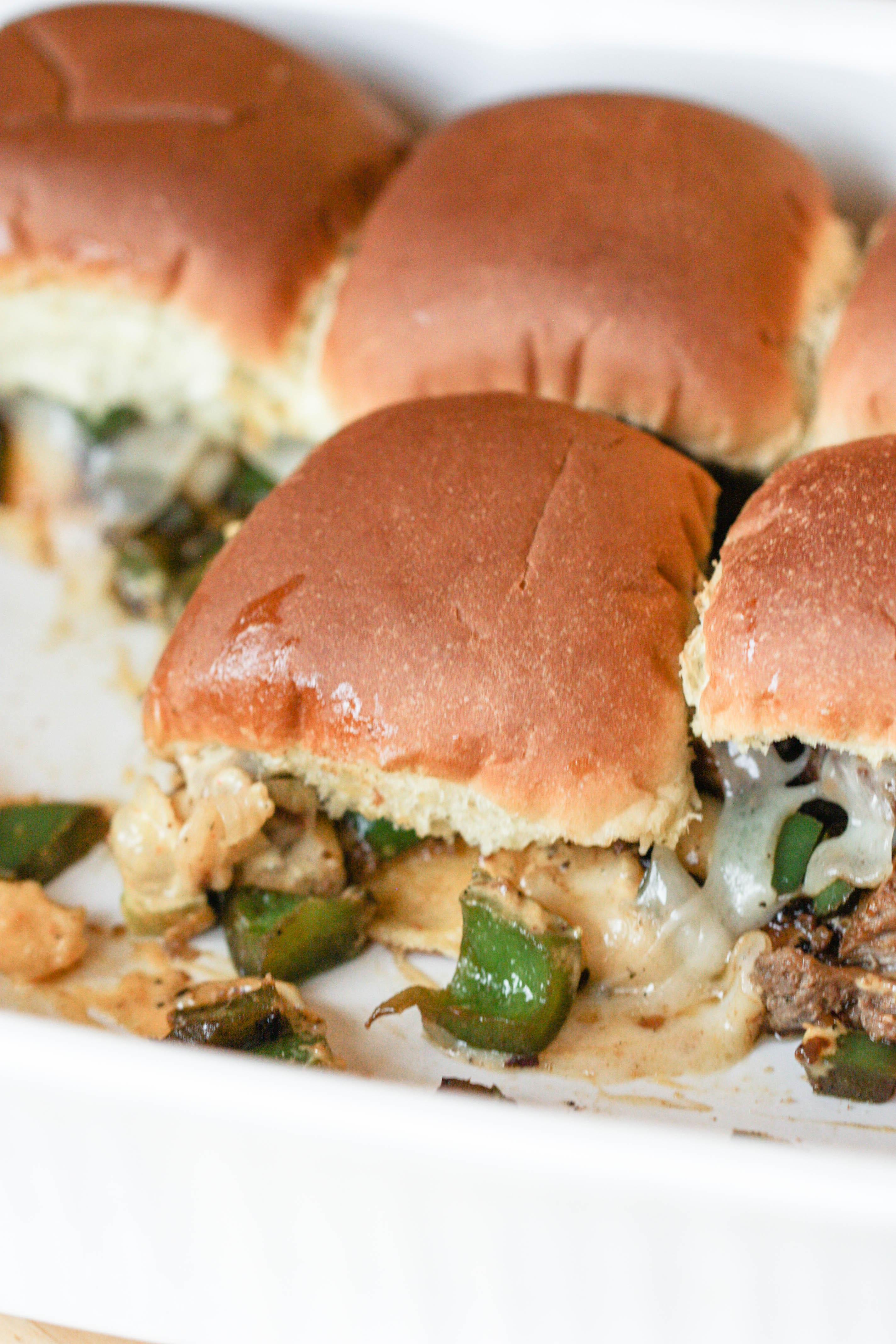 Philly Swiss and Steak Sliders Recipe