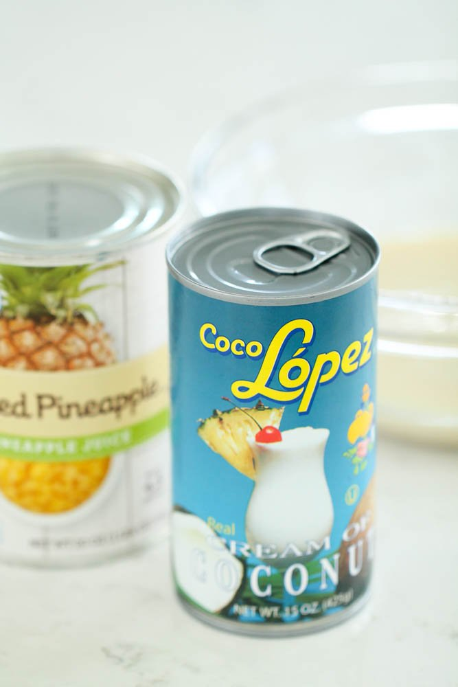 1 can of cream of coconut