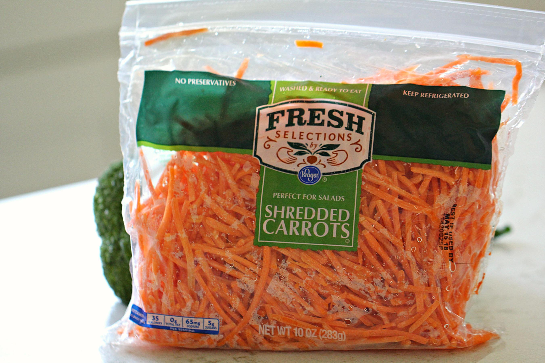 Bag of Shredded Carrots