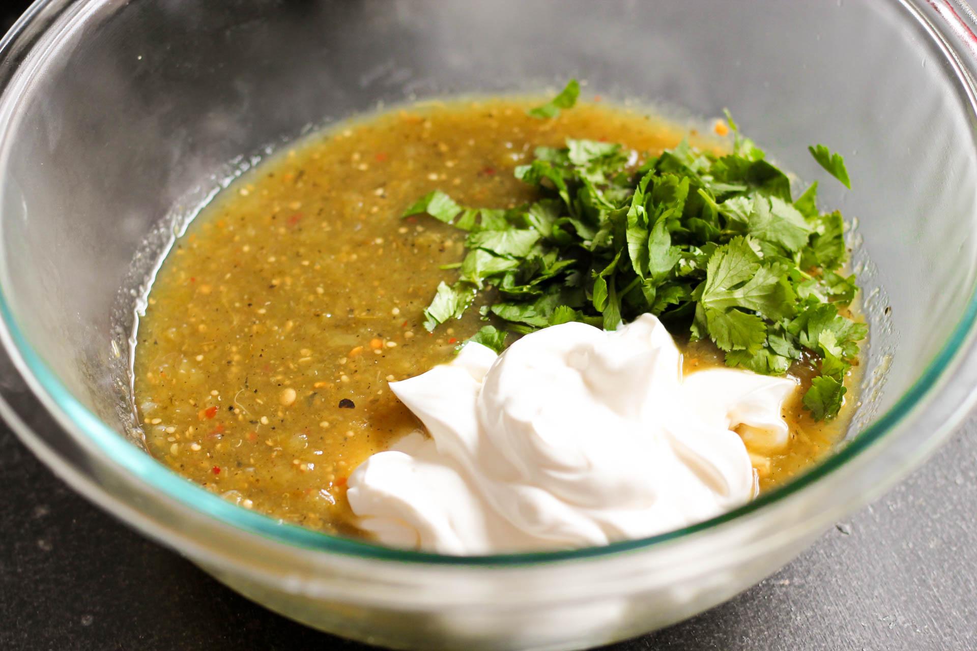 Salsa Verde ingredients for Salsa Verde Enchiladas