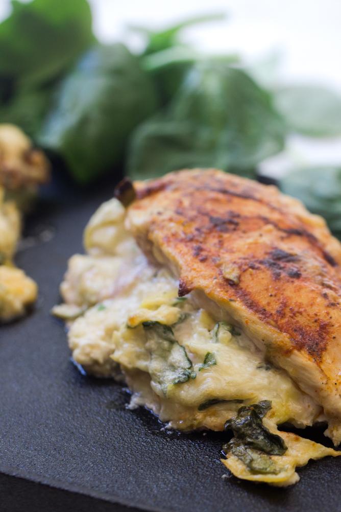 Spinach and Artichoke Stuffed Chicken