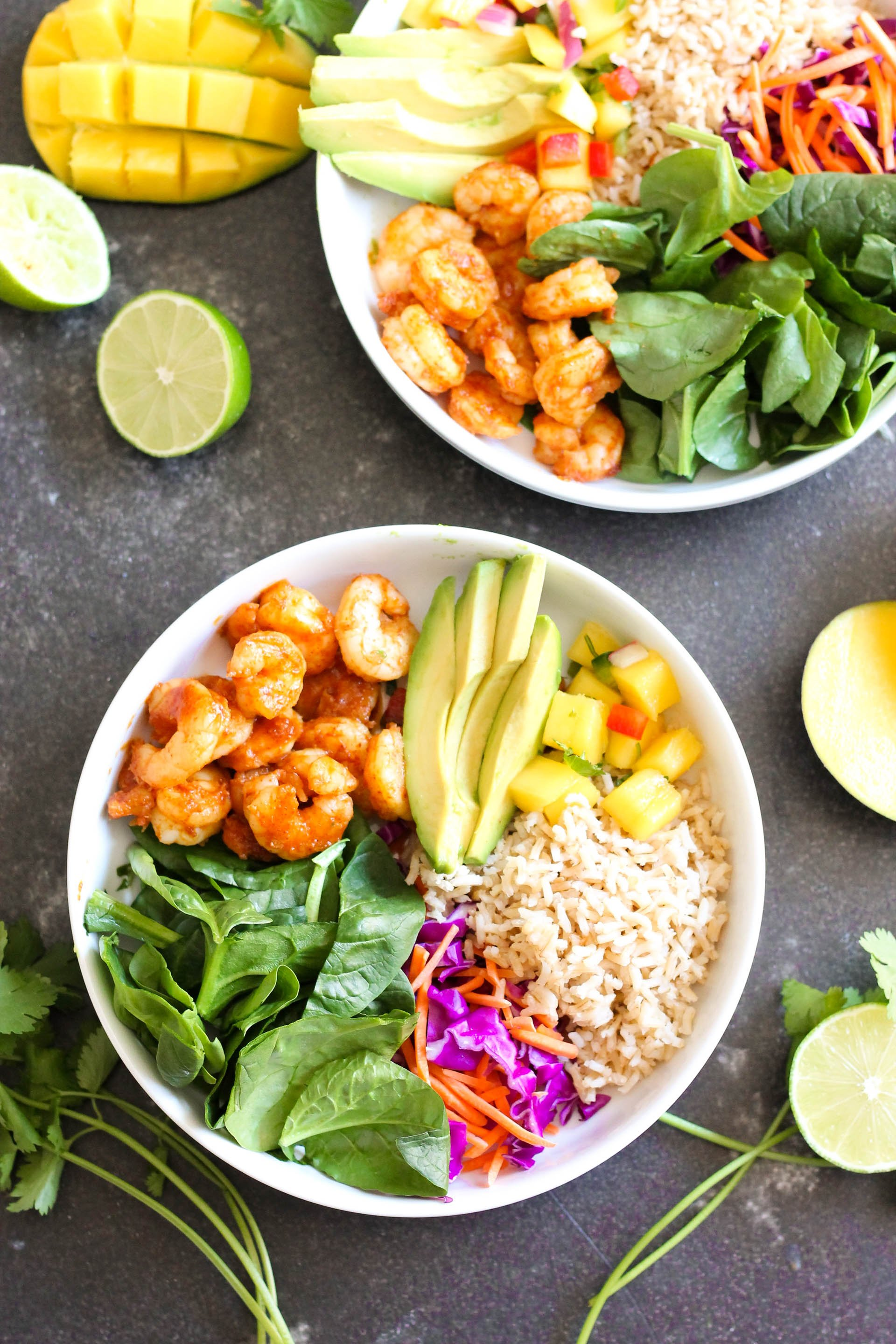 Shrimp Protein Bowl with Mango Salsa Recipe