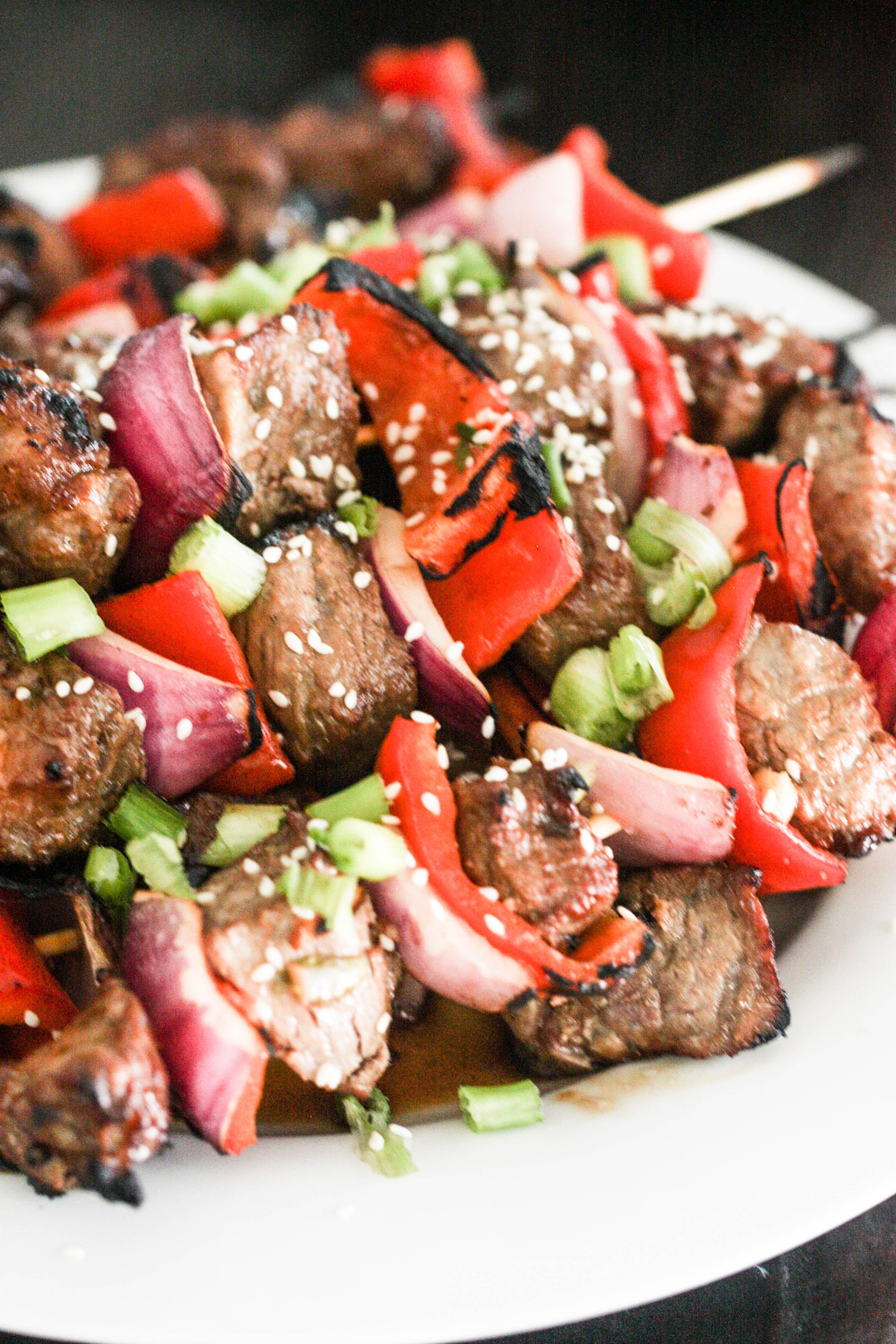Sesame Asian Steak Skewers