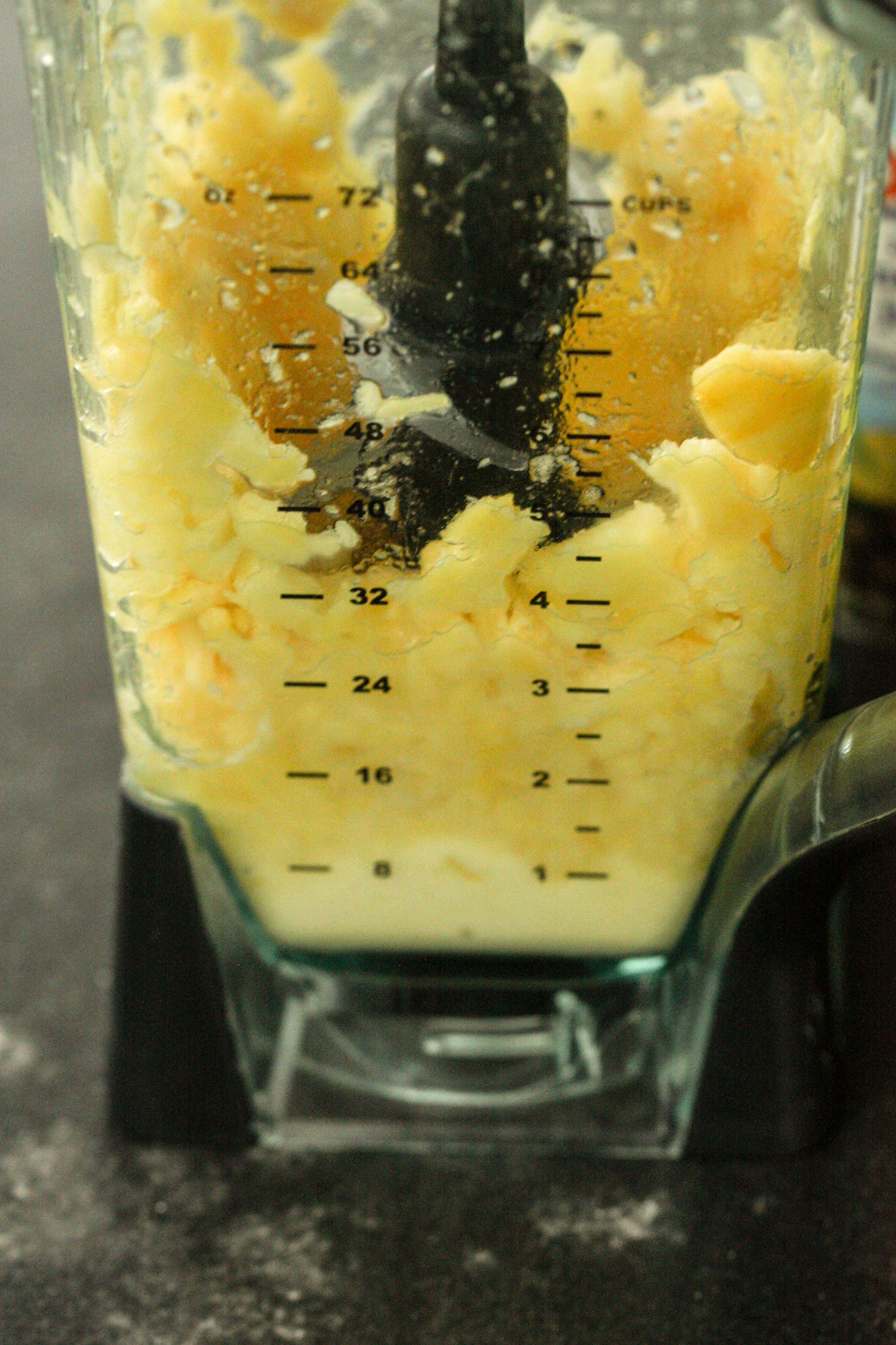 Frozen Pineapple Chunks in Blender