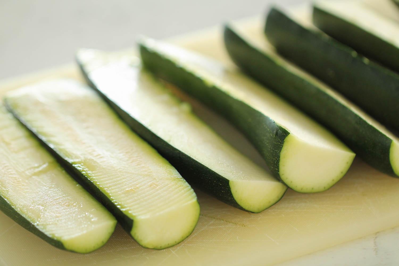 Sliced Zucchini spheres