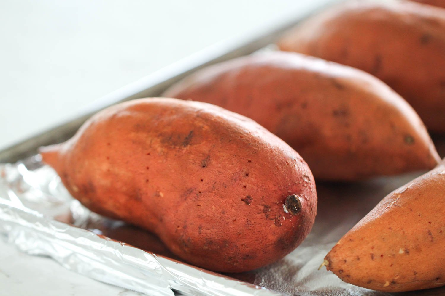 Sweet Potatoes on Sheet Pan