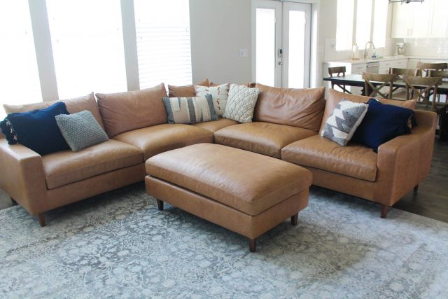 02d7caf8d989 Interior Define offers SO MANY different sofa options that it was hard to  narrow it down. I knew I wanted a square corner sectional so I selected the  Sloan ...