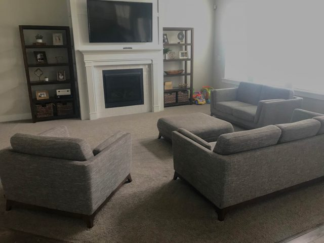I have been looking high and low for a leather sectional and when I found the Sloan Corner Sectional from Interior Define I knew it was the perfect piece ... & Living Room Update with Interior Define | Six Sisters\u0027 Stuff