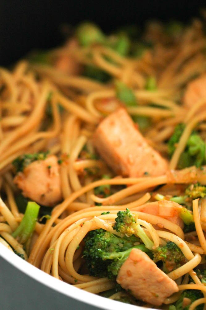 This Asian inspired chicken stir fry dish is extremely high in calories at most Chinese restaurants, but making it from home allows you to put ingredients ...