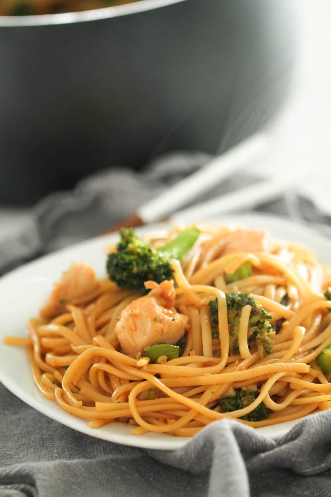 Szechuan Chicken and Noodles Recipe
