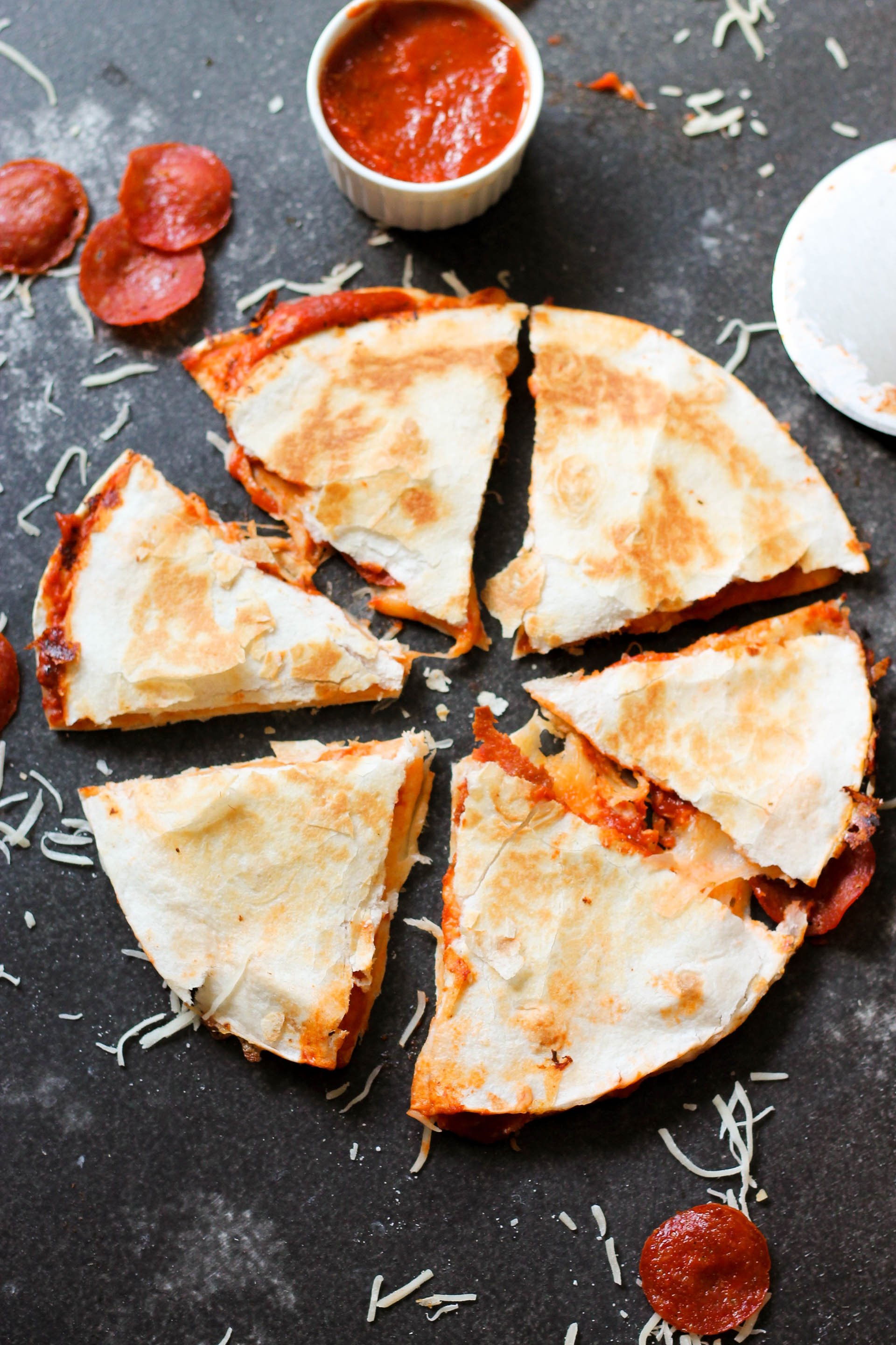 Easy Pizza Quesadillas Recipe Kid Friendly Dinner