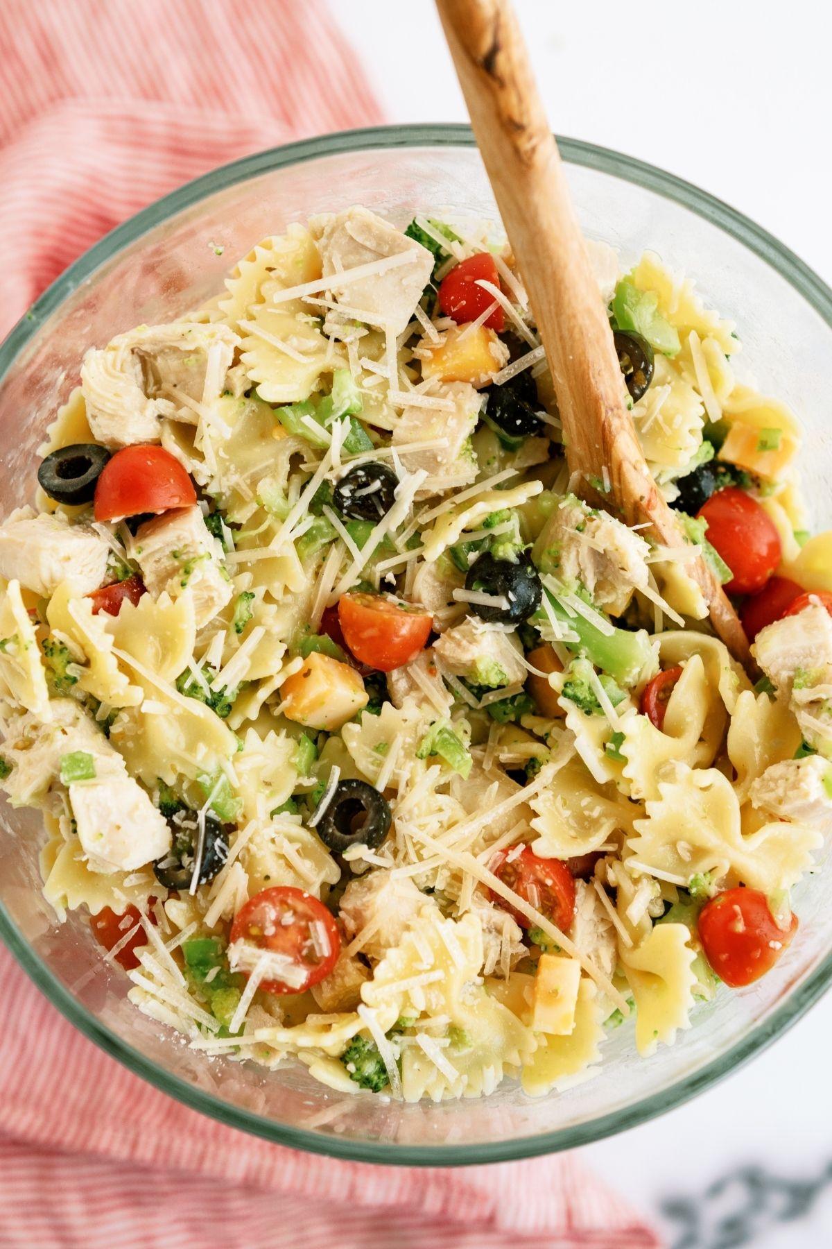 Grilled Chicken Bow Tie Pasta Salad Recipe
