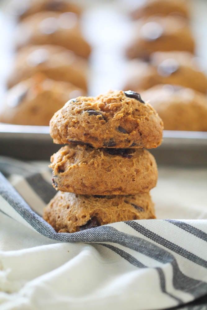 Healthy Pumpkin Chocolate Chip Cookies Six Sisters Stuff