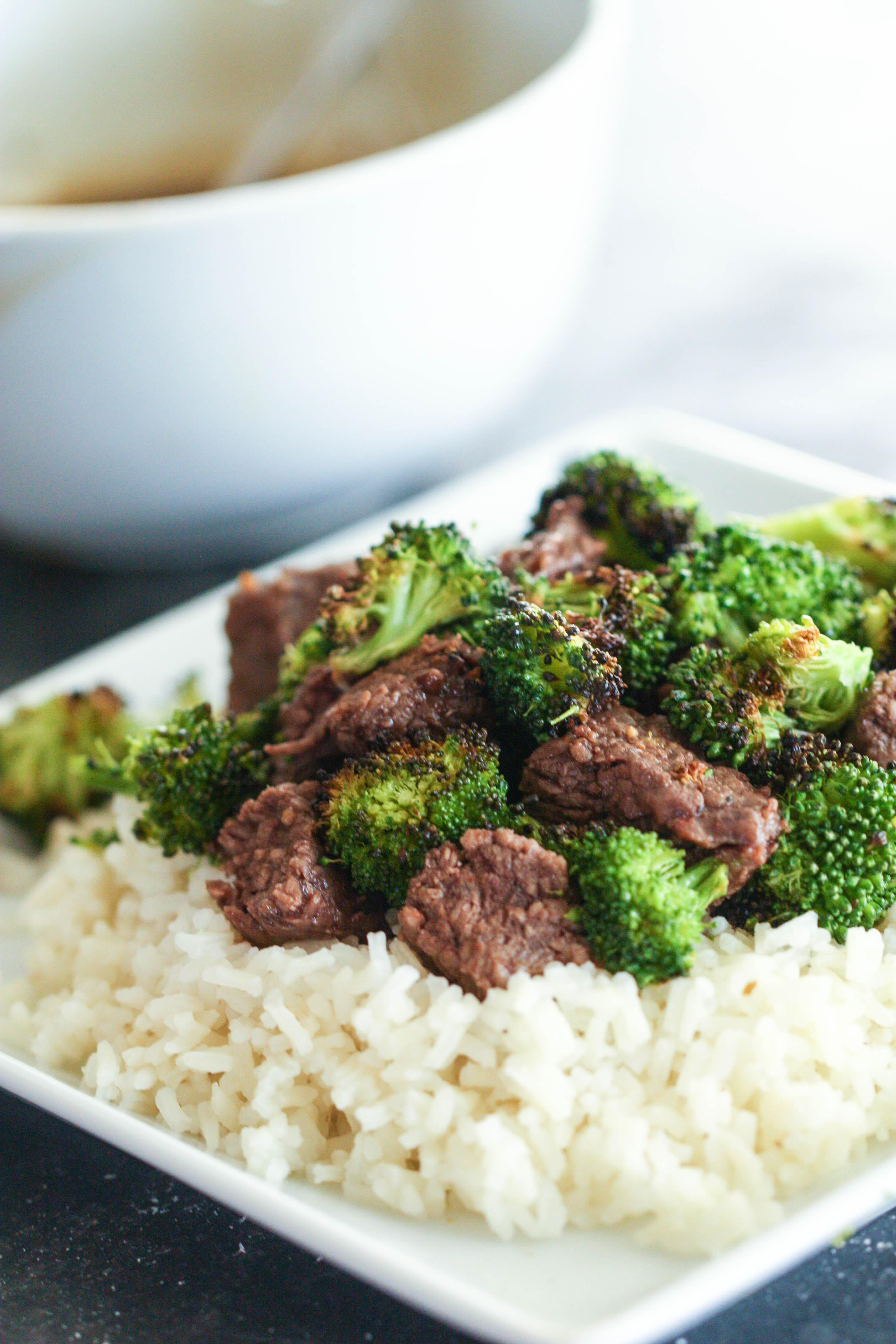 Teriyaki Beef and Broccoli on rice