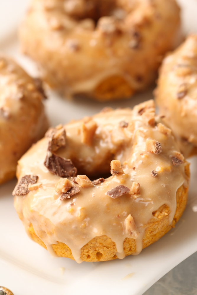 Buttermilk Pumpkin Donuts with Maple Glaze