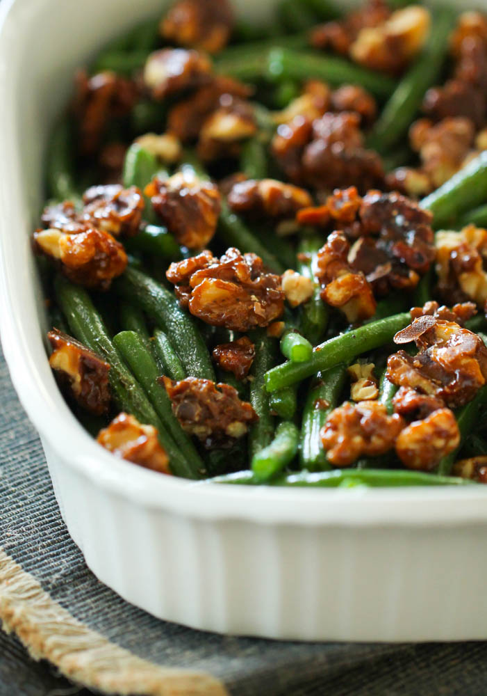 Green Beans with Candied Pecans Recipe