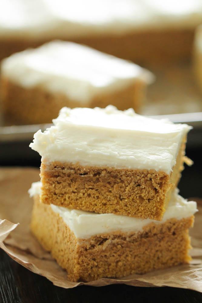 Frosted Pumpkin Sugar Cookie Bars Recipe