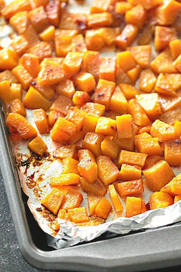 Roasted Honey Cinnamon Butternut Squash Recipe