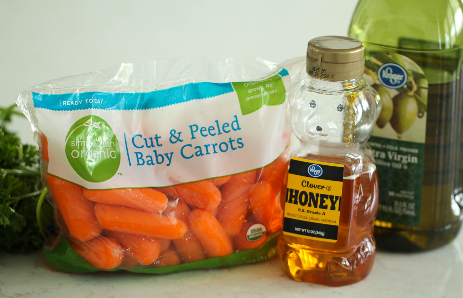 Ingredients for Honey Roasted Carrots