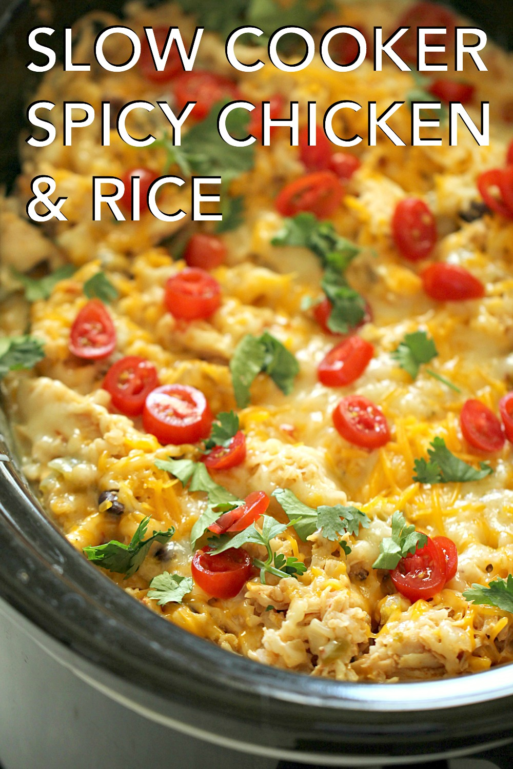 Slow Cooker Spicy Chicken and Rice Bowls