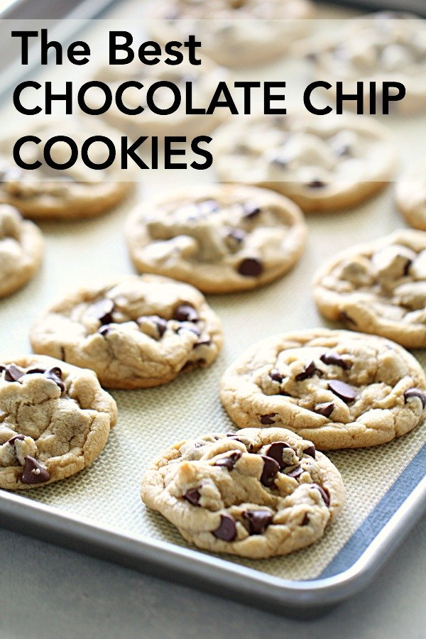 baked chewy chocolate chip cookies