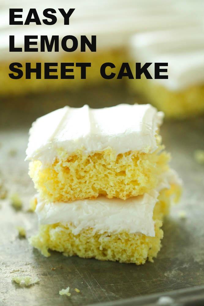 Easy Lemon Sheet Cake Six Sisters Stuff