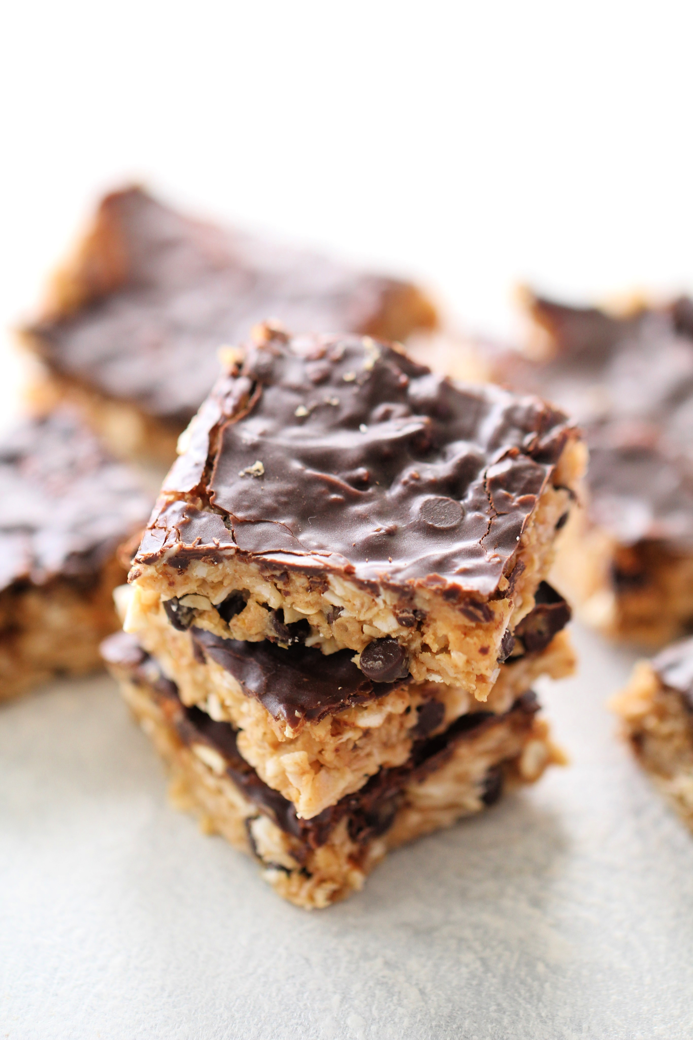 Healthier Chewy Peanut Butter Oatmeal Bars