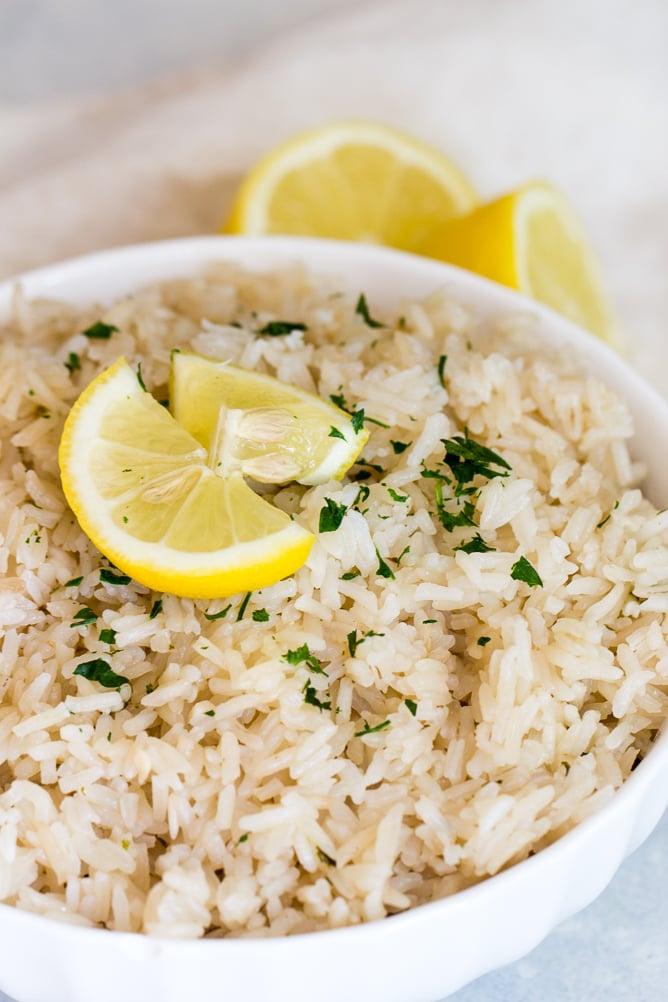 Instant Pot Lemon Rice Pilaf
